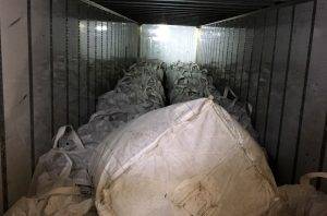 This undated photo provided by Idaho State Police shows a seizure of 6,701 pounds cannabis that the owner says is industrial hemp but that Idaho authorities said was marijuana. Federal legalization for hemp has created a quandary for police as authorities lack the technology to distinguish marijuana from agricultural hemp at a roadside stop. (Idaho State Police via AP)