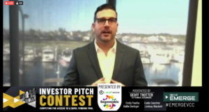 An entrepreneur makes his case for funding during Tuesday's Investor Pitch Contest.