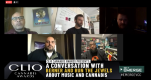 Berner and Run The Jewels at the Clio Cannabis Awards fireside chat.