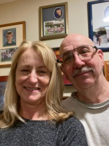 John Knock's was released from prison today. Pictured here at home with his wife Naomi.