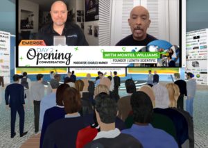 Montel Williams and Charles Warner speaking at the Spring Emerge 2021 Virtual Cannabis Conference.
